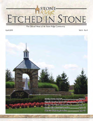 April 2011 Etched In Stone Newsletter
