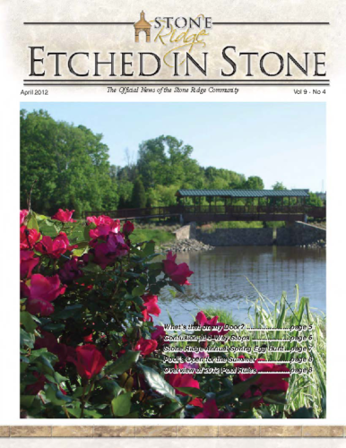 April 2012 Etched In Stone Newsletter