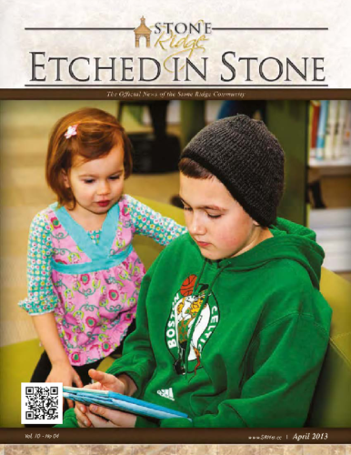April 2013 Etched In Stone Newsletter