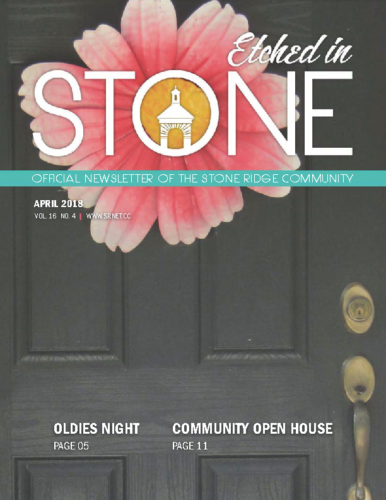 April 2018 Etched In Stone Newsletter