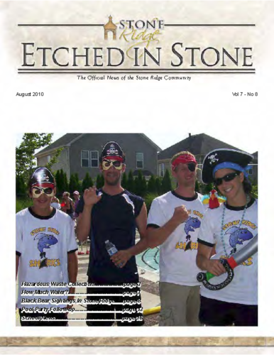 08 – August 2010 Etched In Stone Newsletter