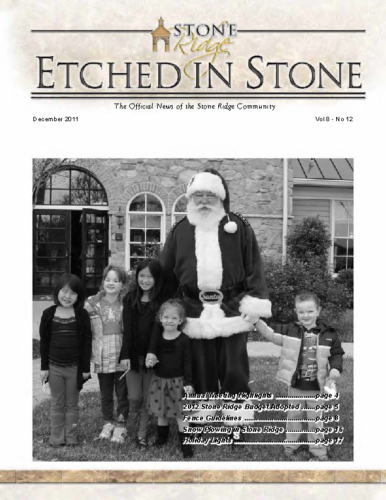December 2011 Etched In Stone Newsletter