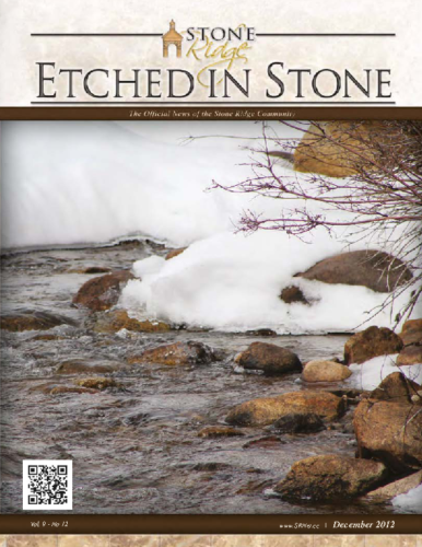 December 2012 Etched In Stone Newsletter