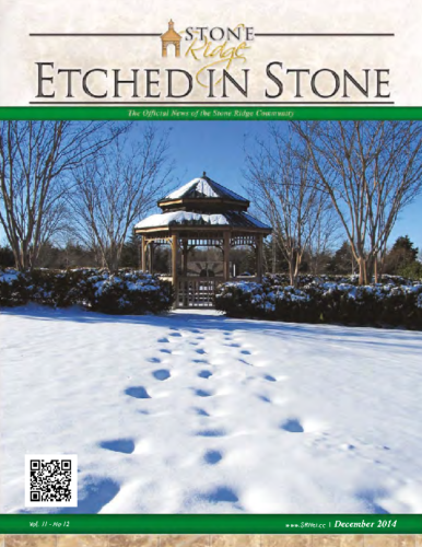 December 2014 Etched In Stone Newsletter