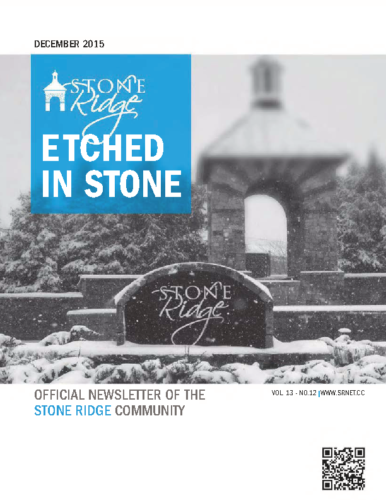 December 2015 Etched In Stone Newsletter
