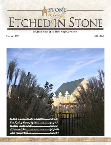 February 2011 Etched In Stone Newsletter