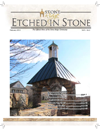 February 2012 Etched In Stone Newsletter