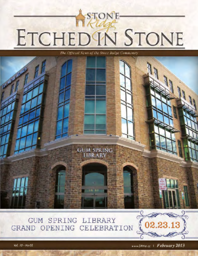 February 2013 Etched In Stone Newsletter