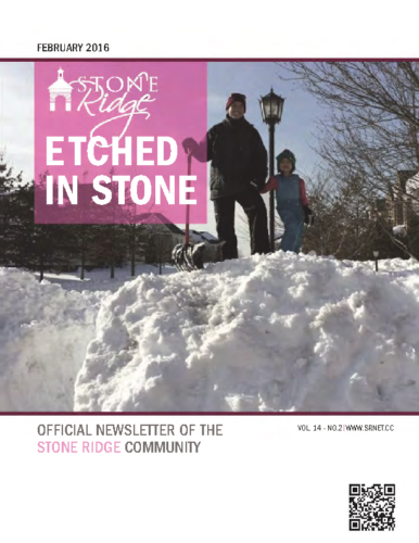 February 2016 Etched In Stone Newsletter