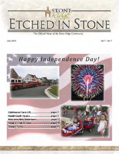 07 – July 2010 Etched In Stone Newsletter