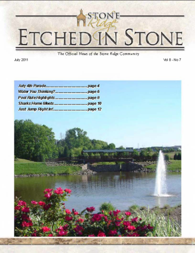 July 2011 Etched In Stone Newsletter