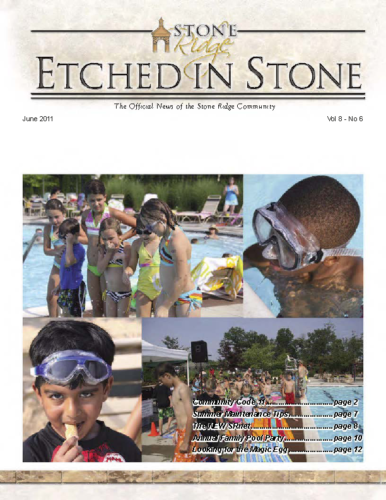 June 2011 Etched In Stone Newsletter