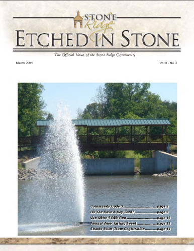 March 2011 Etched In Stone Newsletter