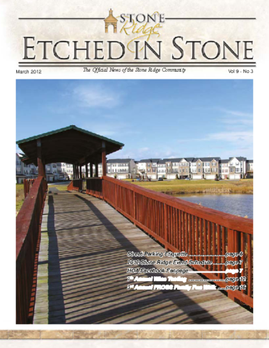 March 2012 Etched In Stone Newsletter