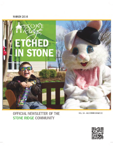 March 2016 Etched In Stone Newsletter