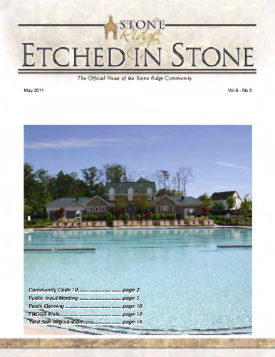 May 2011 Etched In Stone Newsletter