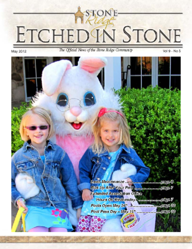 May 2012 Etched In Stone Newsletter