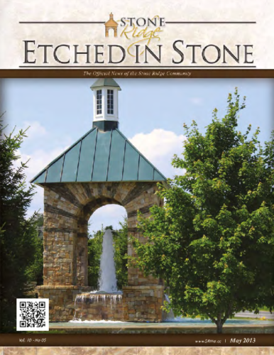 May 2013 Etched In Stone Newsletter
