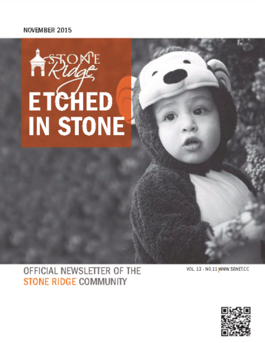 November 2015 Etched In Stone Newsletter