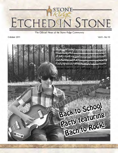 October 2011 Etched In Stone Newsletter