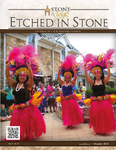 October 2012 Etched In Stone Newsletter