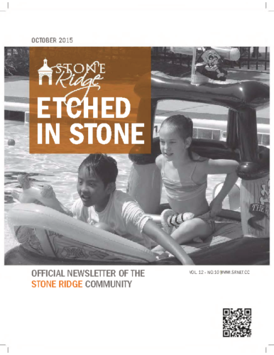 October 2015 Etched In Stone Newsletter