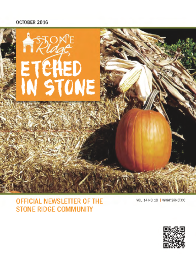 October 2016 Etched In Stone Newsletter