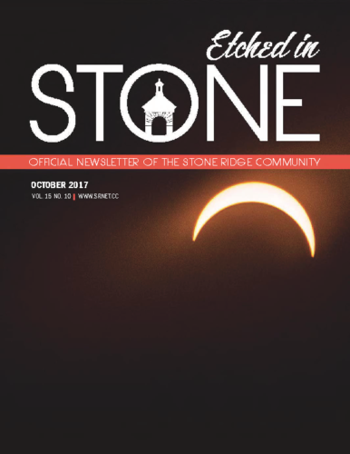 October 2017 Etched In Stone Newsletter
