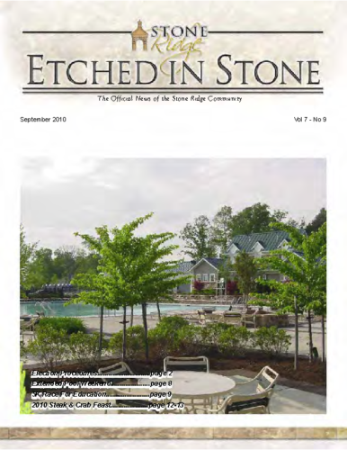 09 – September 2010 Etched In Stone Newsletter