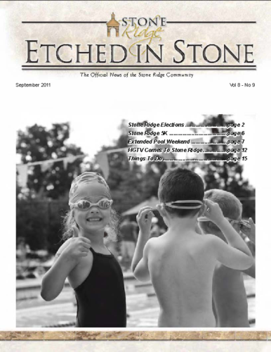 September 2011 Etched In Stone Newsletter