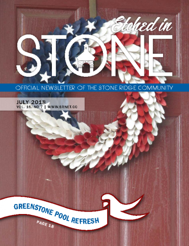 July 2018 Etched in Stone Newsletter