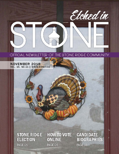 November 2018 Etched in Stone Newsletter