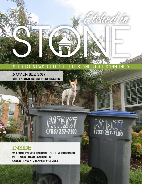 November 2019 Etched in Stone Newsletter