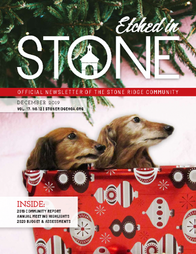 December 2019 Etched In Stone Newsletter