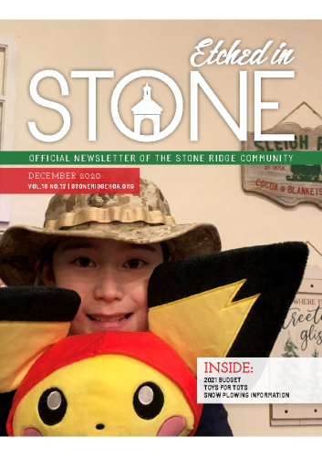 December 2020 Etched in Stone Newsletter