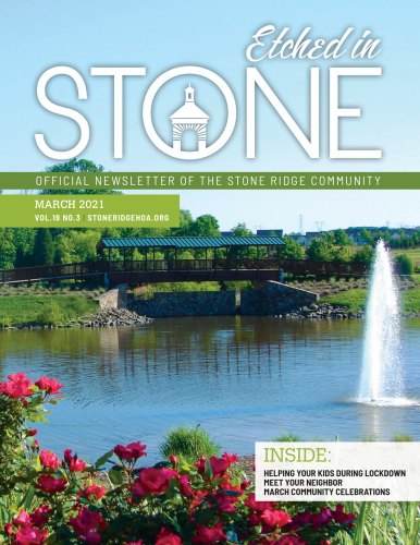 March 2021 Etched in Stone newsletter
